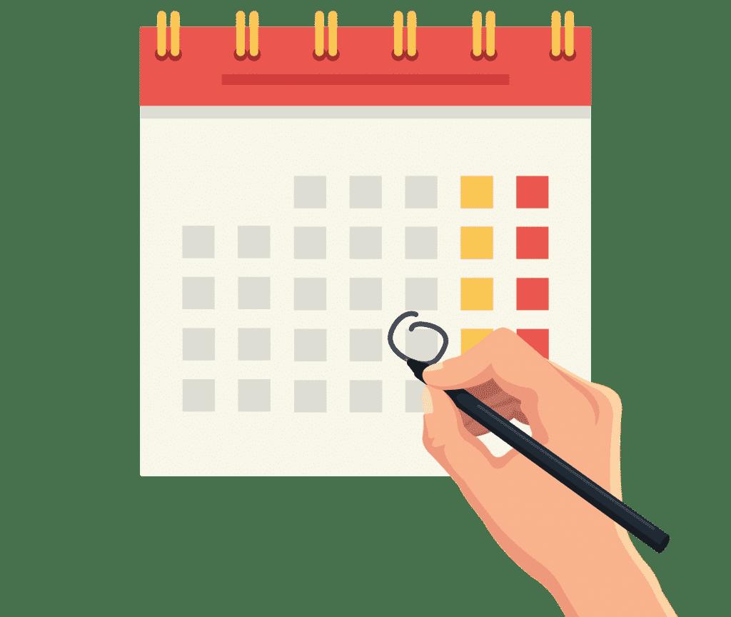 A calendar used to decide single trip versus annual multi-trip cover