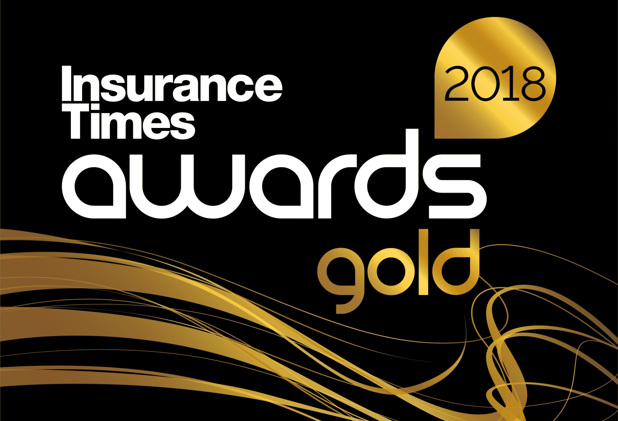 Double award winning AllClear - Gold at industry awards!: Gold logo for AllClear at Insurance Times Awards