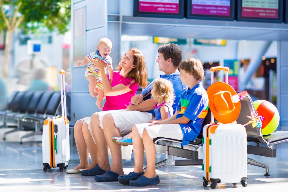 A guide to holidays and Brexit: Young family at airport