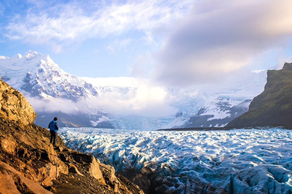 Find out how 55 year old Catherine enjoys fabulous holidays after cancer: Glacier Hike in Iceland