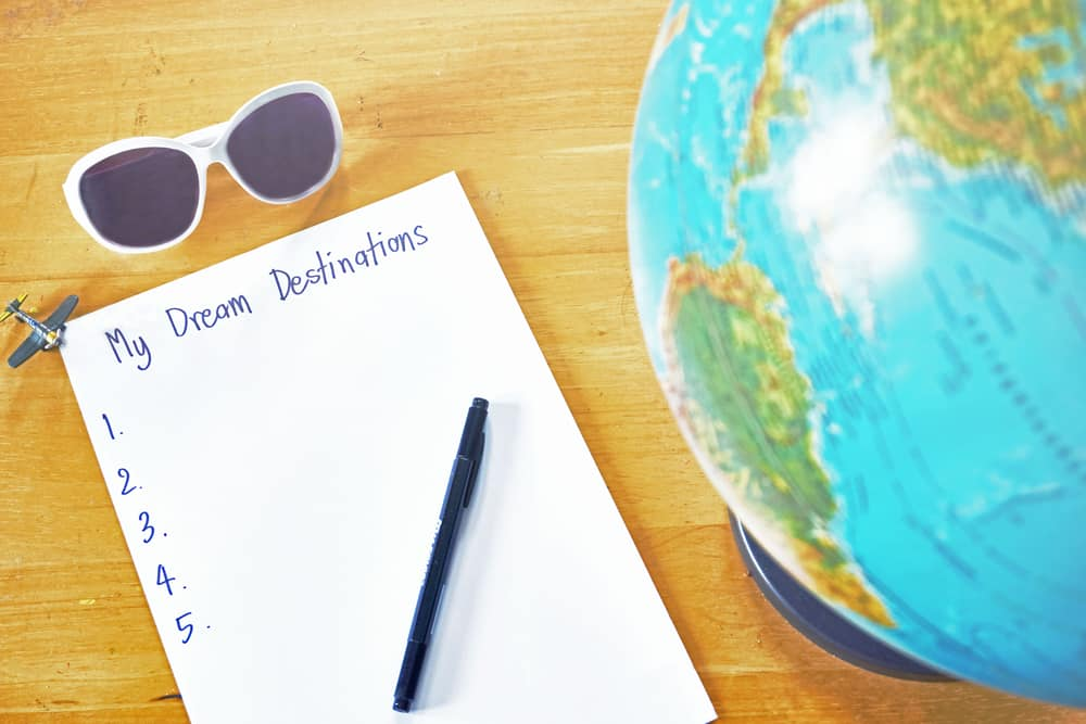 Why a bucket list is so important and how to plan one: Note pad for travel bucket list