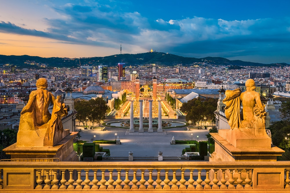 The most popular Spanish cities for holidaymakers this year: Sunset skyline of Barcelona