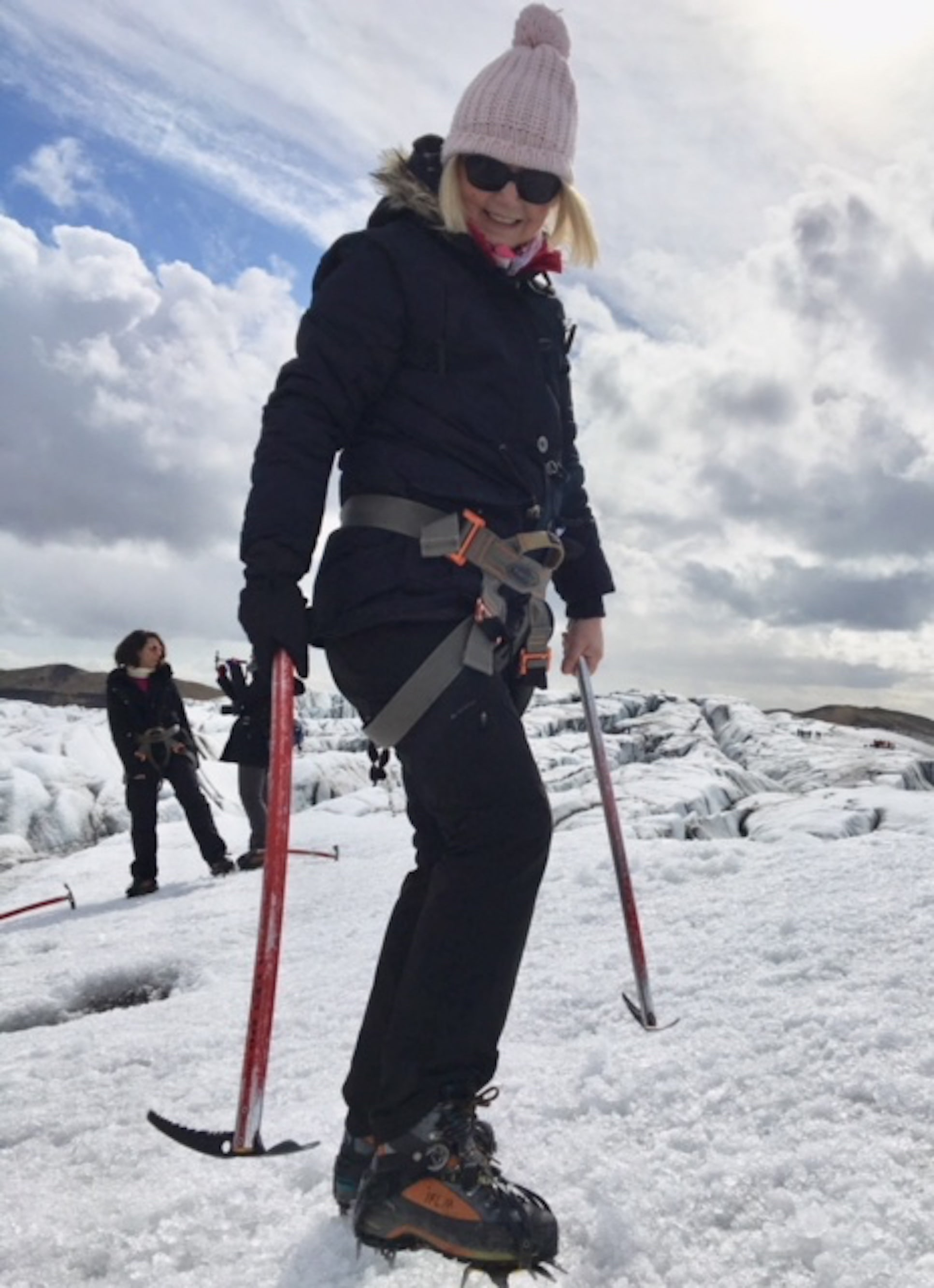 Find out how 55 year old Catherine enjoys fabulous holidays after cancer: Catherine Byrne glacier walking