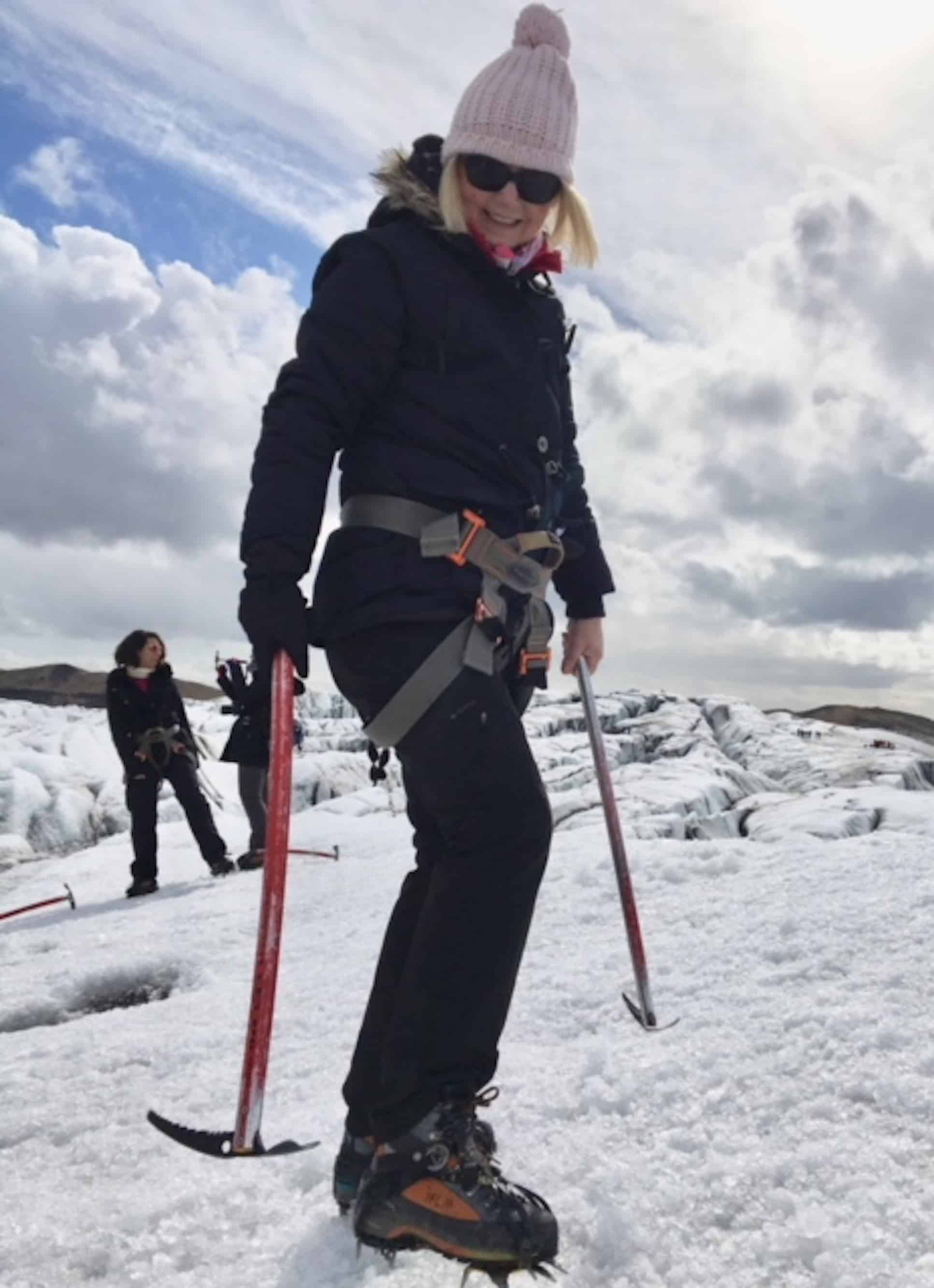 Over 50 and fabulous: Travel adventures from our customers: Mature woman glacier walking