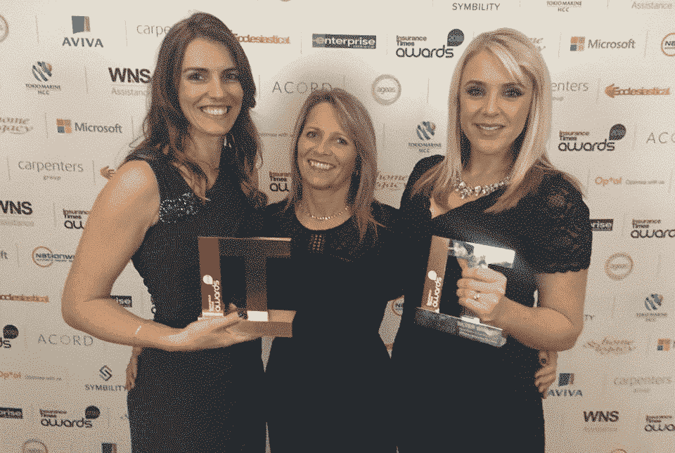 Double award winning AllClear - Gold at industry awards!: AllClear winning gold at Insurance Times Awards 2018