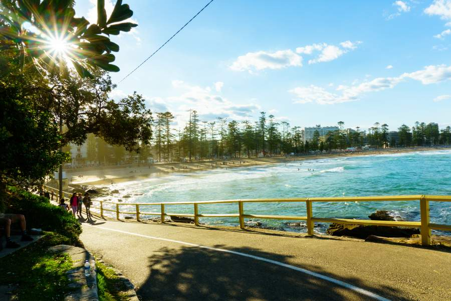 Manly Beach, Australia a great destination for travelling with a disability