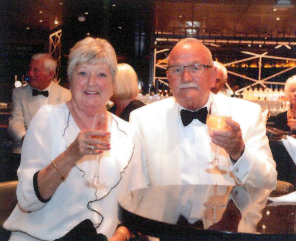 Over 70's Couple with Multiple Medical Conditions Keep on Cruising: Graham Ackrill and his wife enjoying a cruise on holiday