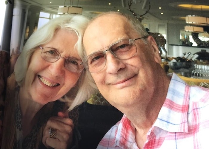 How an over 70's Couple with Cancer Attended Their Son's USA Wedding: Jean garner and husband on holiday