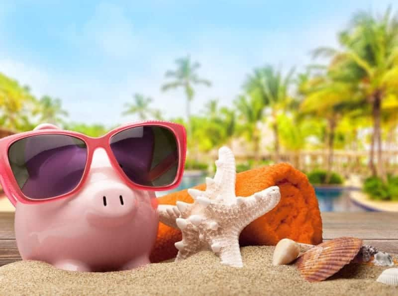 The piggy bank of a holiday maker who followed our 7 ways to save money when travelling