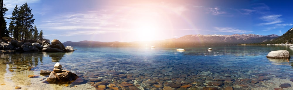 Travel insurance for cancer: Let's keep it simple: Panorama of Lake Tahoe