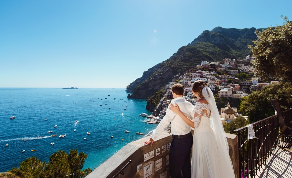 Five stunning wedding locations to rival the Royal Wedding: Wedding in Amalfi Coast, Italy