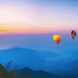 When buying cheap travel insurance could cost you dearly: Sunrise in hot air balloon over Thailand