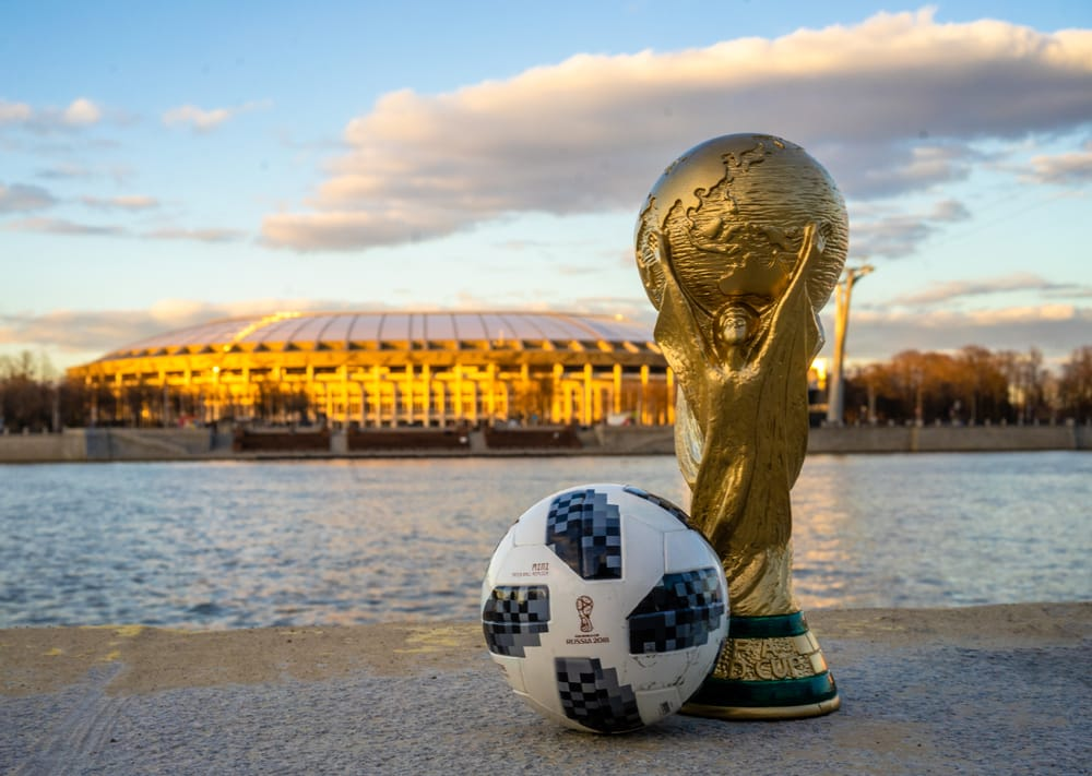 10 stunning places to visit in Russia during the World Cup: World cup trophy outside Moscow
