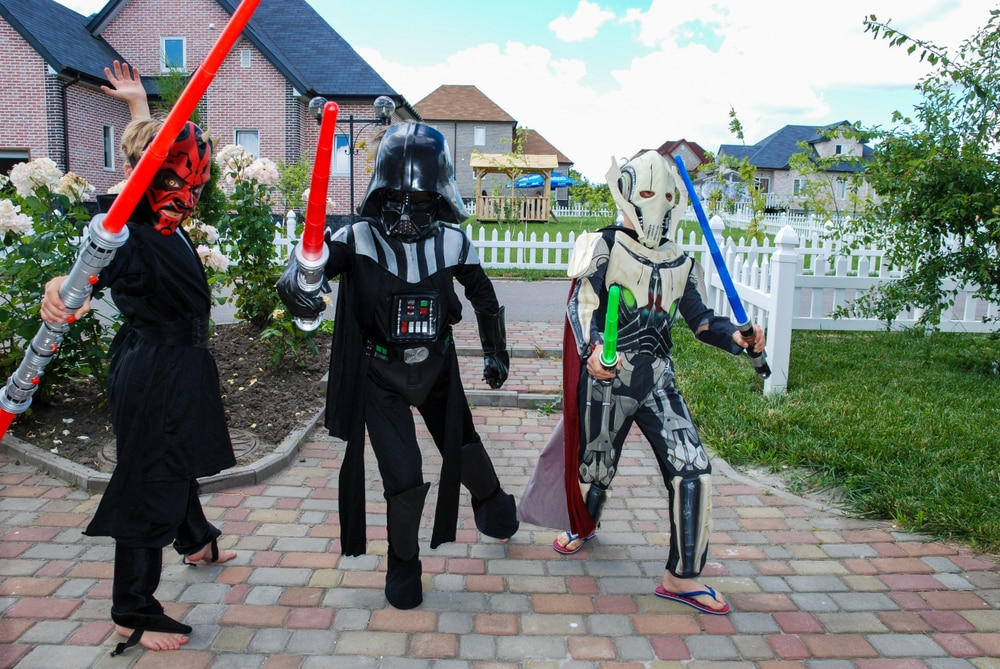 Most Popular Halloween Breaks & Destinations: Kids dressed up as Star Wars characters