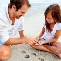 Why you shouldn't take seashells from the beach: Father and daughter searching for seashells
