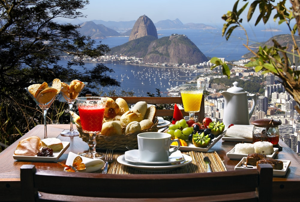 How to be a holiday eco-hero | Environmentally friendly trips: Breakfast overlooking Rio in Brazil