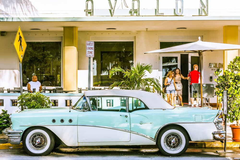 Solo Travelling Over 60 - Singles Holiday Ideas / Inspiration: Driving Cadillac in Miami