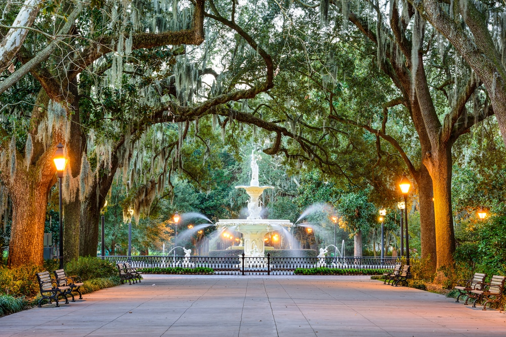The 'new' most romantic destinations in the world: Forsyth Park Fountain, Georgia, USA