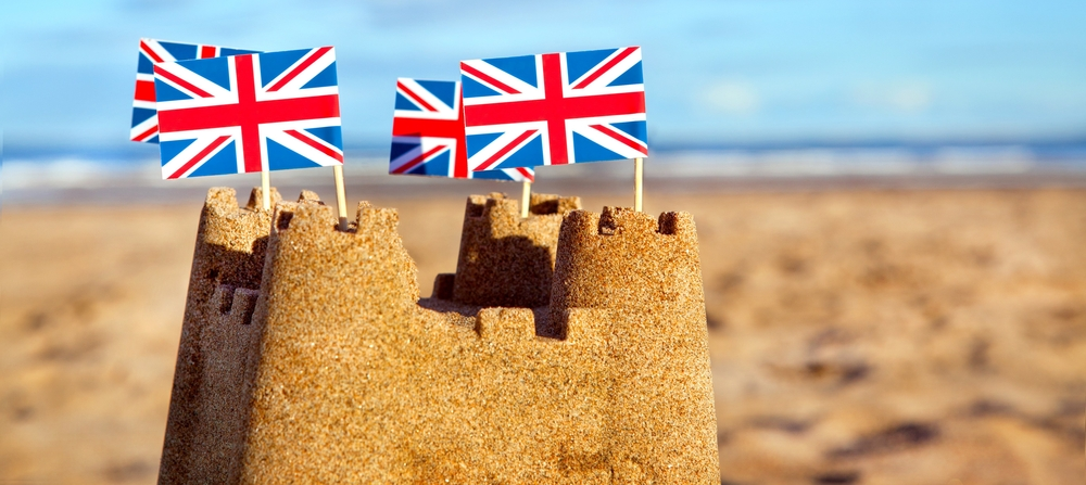 A guide to holidays and Brexit: British sandcastles on the beach
