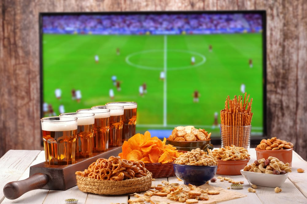10 things that make a great British holiday: Watching the football on TV with beers