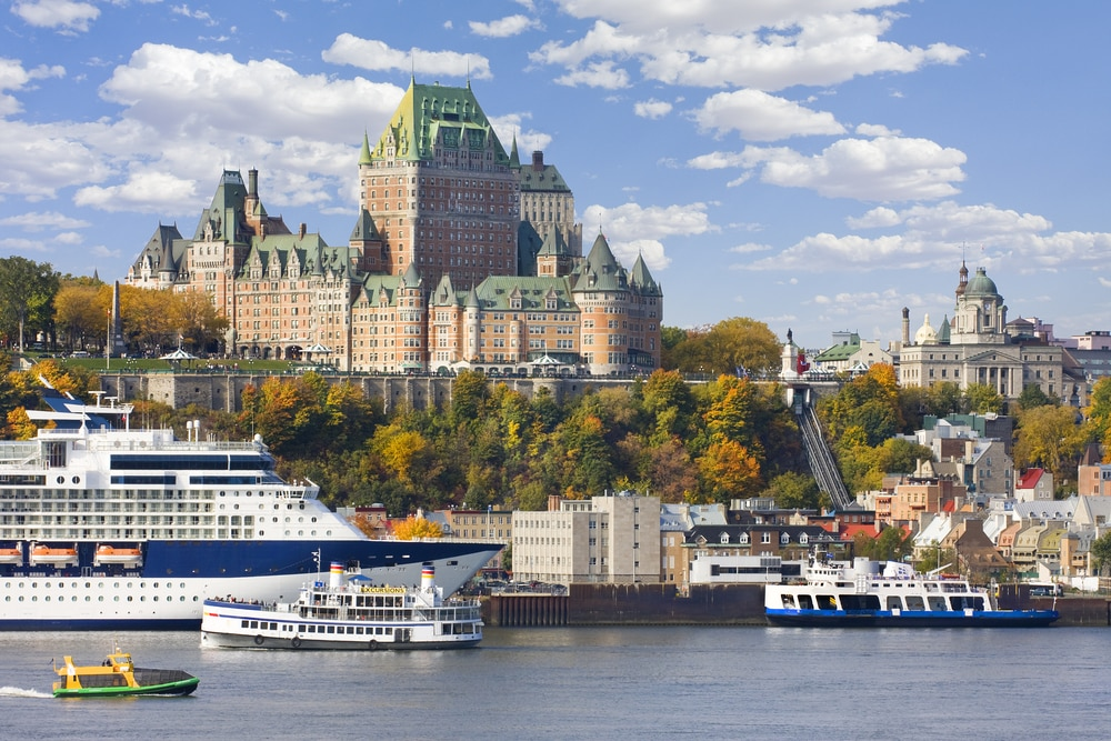The 'new' most romantic destinations in the world: Quebec City skyline and St Lawrence River in autumn, Canada