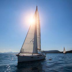 Accessible Sailing Holidays Around the World: Sun behind sail