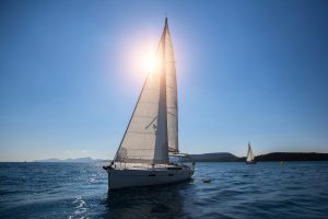 Accessible Sailing Holidays Around the World: Sun behind sail