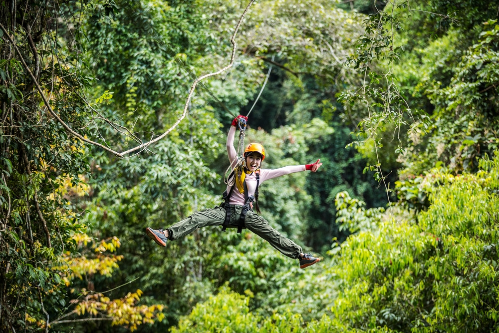 Top 10 safest countries to visit in the world 2018: Zip wiring in Costa Rica tropical jungle