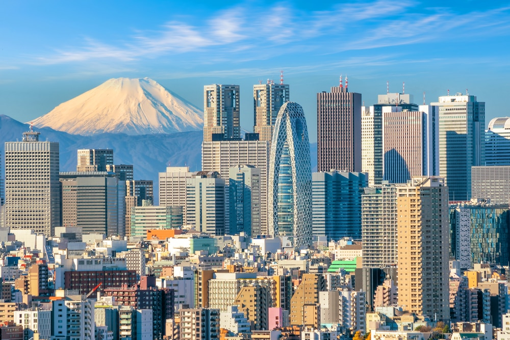 Top 10 safest countries to visit in the world 2018: Mount Fuji, Tokyo, Japan skyline