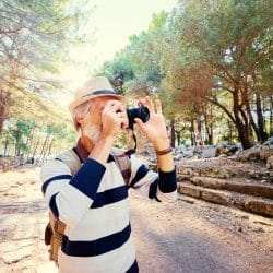 Solo travelling for seniors: photographer