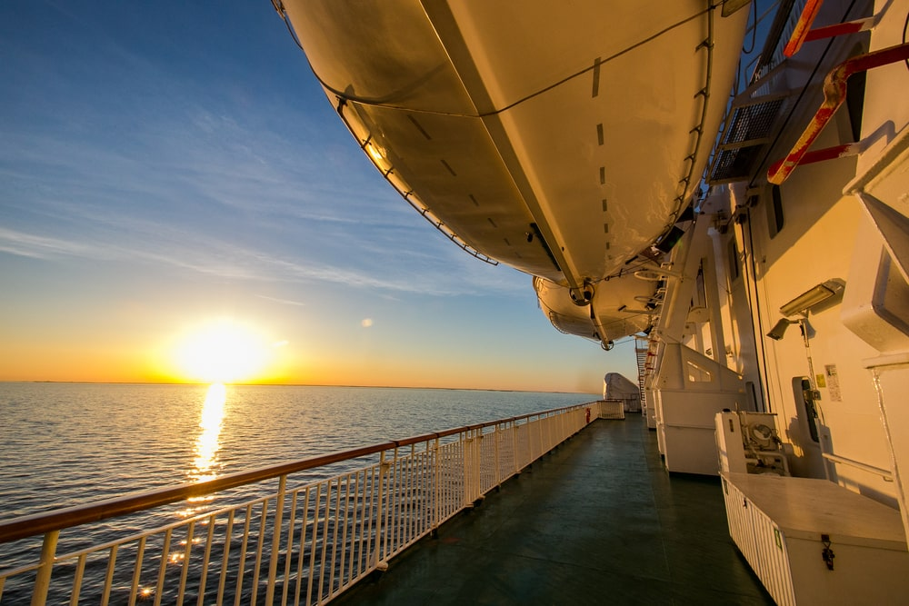 Solo Travelling Over 60 - Singles Holiday Ideas / Inspiration: Sunrise on a cruise ship