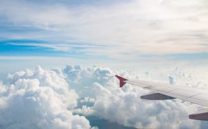 When you can fly after having DVT: airplane view.