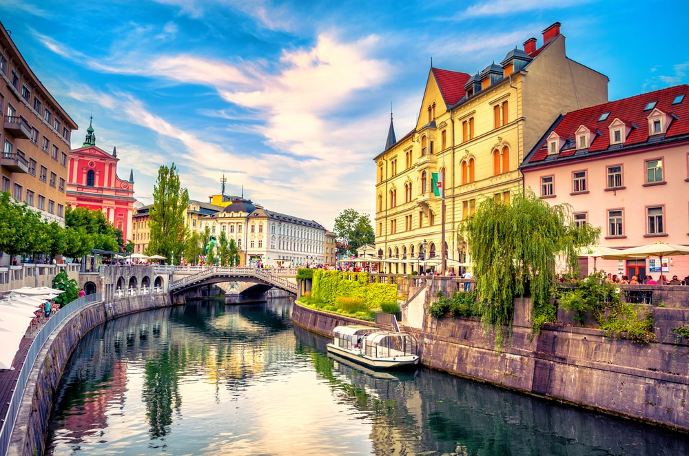 The 'new' most romantic destinations in the world: Ljubljana old town, Slovenia