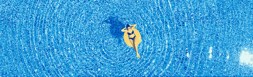 Travel Vaccinations Guide: Woman laying in inflatable donut in pool