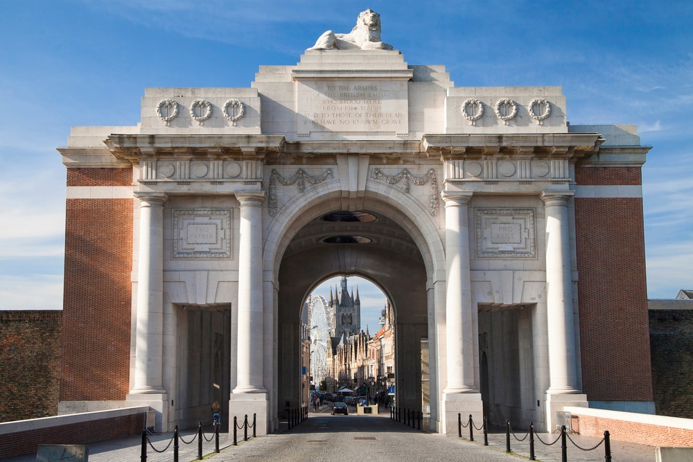Where you can mark the End of World War I in its Centenary year: Menin Gate, Belgium