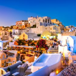 Martin Lewis: Choose specialist travel insurance to get the price down: Panoramic of Santorini