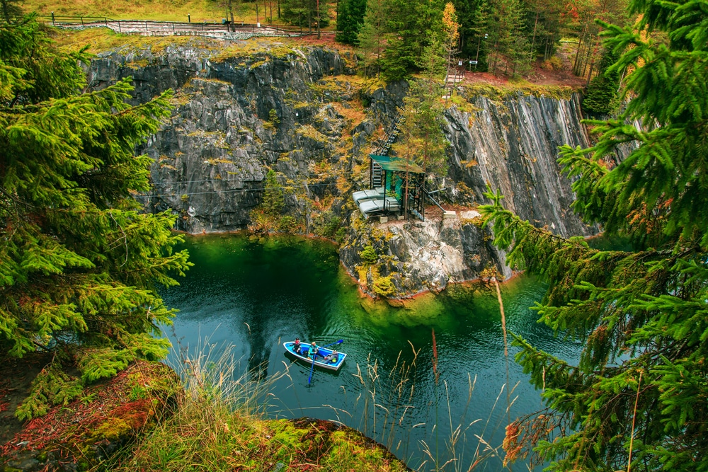 10 stunning places to visit in Russia during the World Cup: Ruskeala Mountain Park