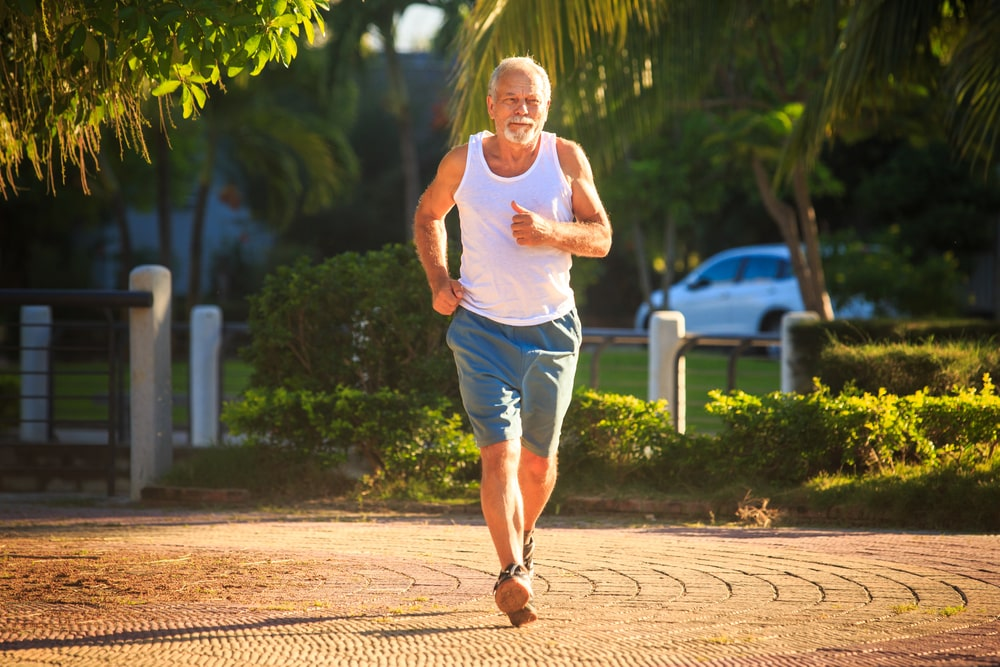 How to get fit when you are over 50 | Be inspired by this summer of sport: Senior man running on street