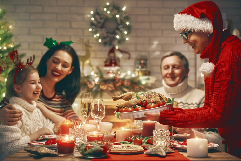 The best reasons to holiday abroad at Christmas: Family christmas meal