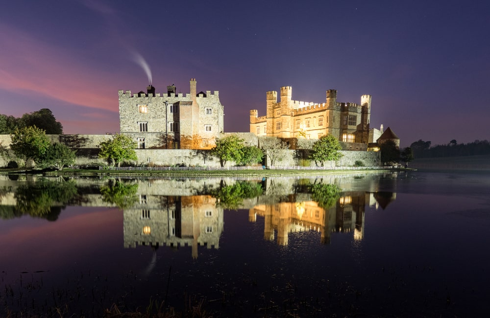 Five stunning wedding locations to rival the Royal Wedding: Leeds Castle at night