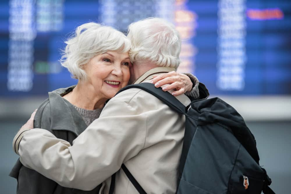 Travelling With Medications | Hand Luggage Restrictions: How to pack your hand luggage: old couple at airport