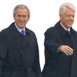 Travelling with an angioplasty: From presidents to print salesmen: Clinton and Bush