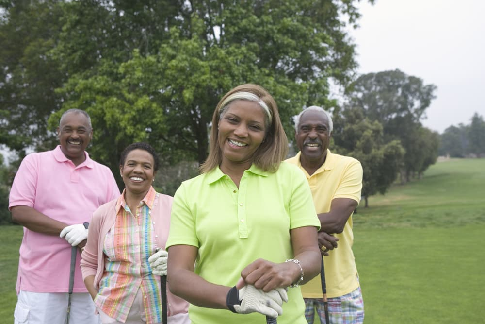 How to get fit when you are over 50 | Be inspired by this summer of sport: Middle age couples playing golf